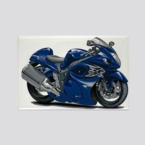 Hayabusa Dark Blue Bike Rectangle Magnet
