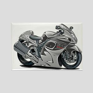 Hayabusa Grey Bike Rectangle Magnet