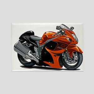 Hayabusa Orange Bike Rectangle Magnet