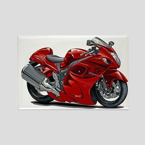 Hayabusa Red Bike Rectangle Magnet