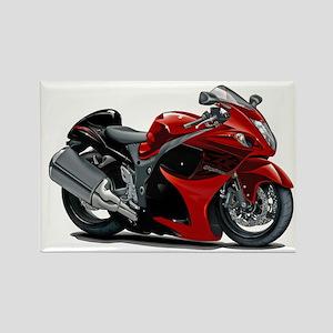Hayabusa Red-Black Bike Rectangle Magnet