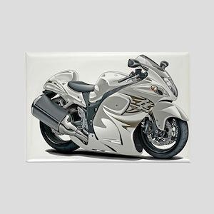 Hayabusa White Bike Rectangle Magnet