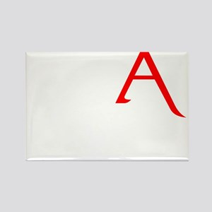 RED A SHIRT SCARLET LETTER EA Rectangle Magnet