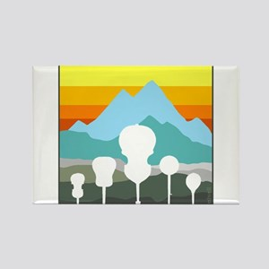 Mountain Music Rectangle Magnet