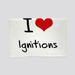 I Love Ignitions Rectangle Magnet