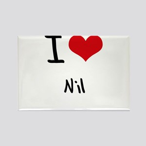 I Love Nil Rectangle Magnet