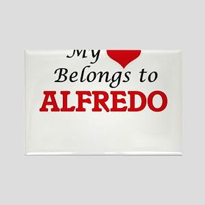 My heart belongs to Alfredo Magnets