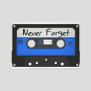 Tape Cassette Never Forget Rectangle Magnet