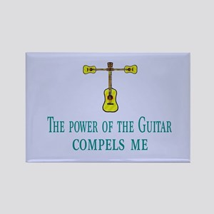 Compelled By Guitar Rectangle Magnet