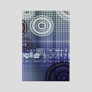 modern circles pattern design Rectangle Magnet
