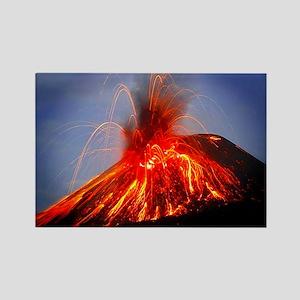 Krakatoa Volcano Hawaii Rectangle Magnet