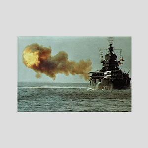 USS Idaho Ship's Image Rectangle Magnet