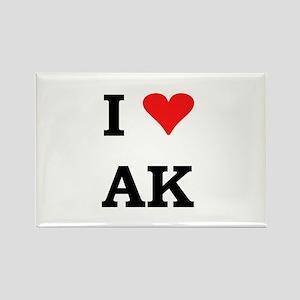 I Heart Alaska Rectangle Magnet