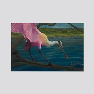 Swagger - Roseate Spoonbill Over  Rectangle Magnet