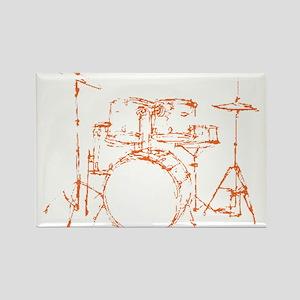 Drum Kit Drums Set Rectangle Magnet