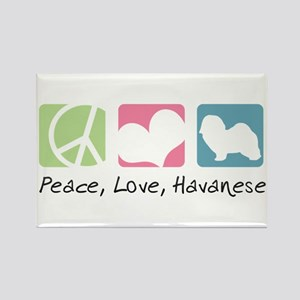Peace, Love, Havanese Rectangle Magnet
