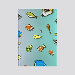 All the Fish Under the Sea Rectangle Magnet