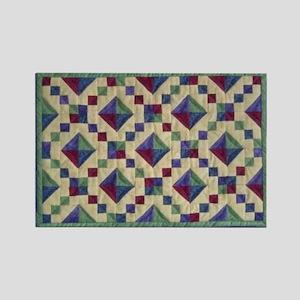 Jewel Box Quilt Rectangle Magnet