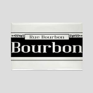 Rue Bourbon Street Sign Magnets