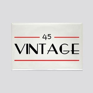 45th Birthday Vintage Rectangle Magnet