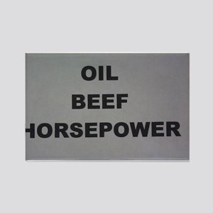 Oil Beef HP Rectangle Magnet