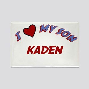 I Love My Son Kaden Rectangle Magnet