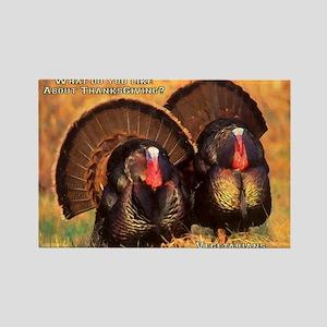 Thanksgiving Turkeys Rectangle Magnet