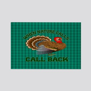 Turkey Call Rectangle Magnet