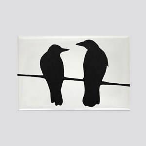 Chatting Crows Rectangle Magnet