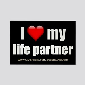 """Love My Life Partner"" Rectangle Magnet"
