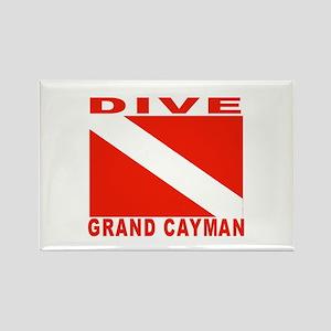 Dive Grand Cayman Rectangle Magnet