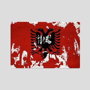Albania Flag Rectangle Magnet