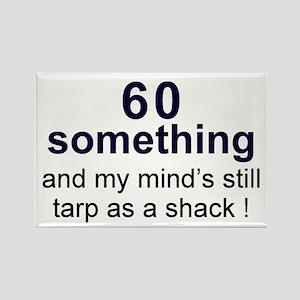 60 Something Rectangle Magnet