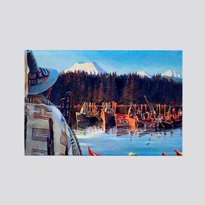 Tlingit Canoes Rectangle Magnet