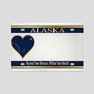 Alaska State License Plate Magnets