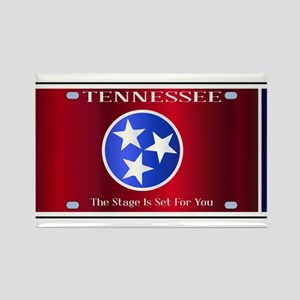 Tennessee State License Plate Flag Magnets