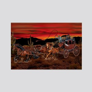 Stagecoach Cowboys Magnets