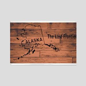 Alaska Map Brand Magnets