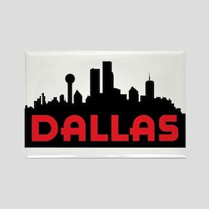 Dallas Slyline Rectangle Magnet