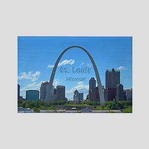 St. Louis Rectangle Magnet