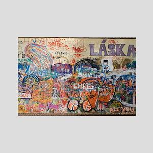 Lennon Wall, Prague - Rectangle Magnet