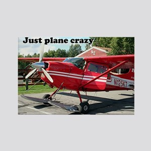 Just plane crazy: skiplane, Alaska Rectangle Magne