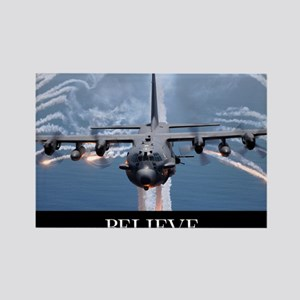 Military Poster: An AC-130H Gunsh Rectangle Magnet