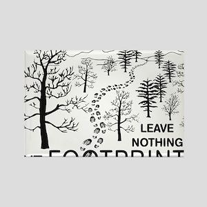Leave Nothing but Footprints BLK Rectangle Magnet