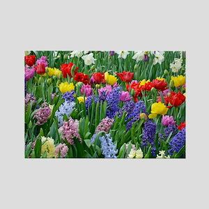 Spring garden flowers Rectangle Magnet