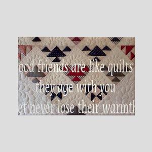 good friends quilt Rectangle Magnet