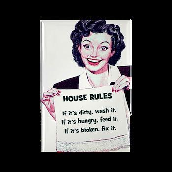 House Rules Rectangle Magnet > Funny Fridge Magnets > Cafe Pretzel T