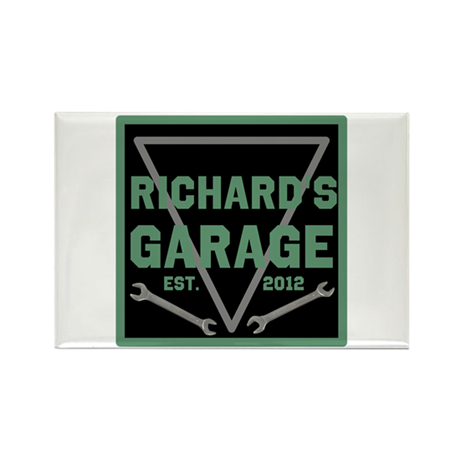 Personalized Garage Rectangle Magnet