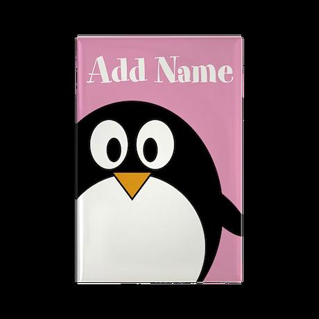 Modern Penguin Pink Magnets