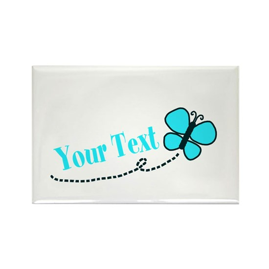 Personalizable Teal and Black Butterfly